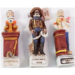 Cyrus Noble Commemorative Miniatures: Miner, Bartender and Assayer
