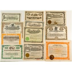U.S. Oil Stock Certificate Collection (11)