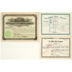 US Coal Mining Stock Certificates