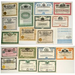 US Miscellaneous & Foreign Stock Certificates (Mining, Railroad, Oil, etc)