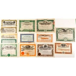 Hard to Find Group of Western Mining Stock Certificates