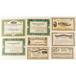 Western US Mining Stock Certificates