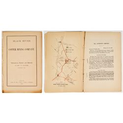 1862 Geological Survey & Report of Black River Copper Mining Co. (C.T. Jackson) w/ color map