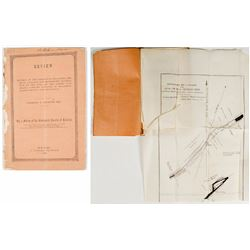 1852 Report of The Albert Coal Mining Company (C.T. Jackson) w/ fold-out map