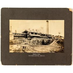 Mexico Mining Photograph and Check