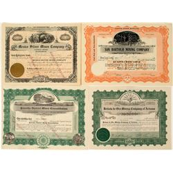 Mexican Mining Stock Certificates (4)