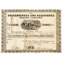 Philadelphia & California Mining Co. Stock Certificate (California Gold Rush)