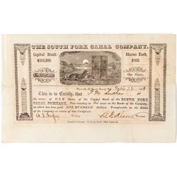 The South Fork Canal Company Stock Certificate