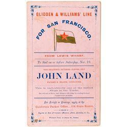 Gold Rush Shipping Card: John Land