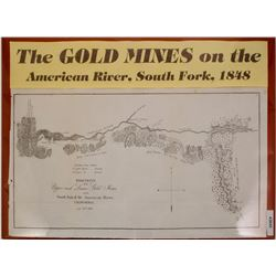 1848 Gold Rush Map of American River Claims