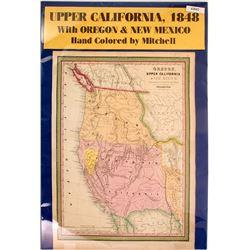 Choice California Gold Rush Map c.1848