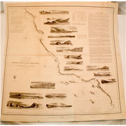 1852 Map of the West Coast of United States