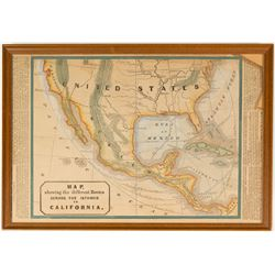 California Gold Rush Routes Map