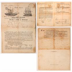California Gold Rush German Emigration Document
