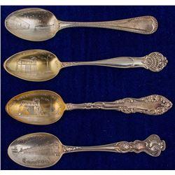 Escanaba & West Bay City Spoons w/ Mine Scenes