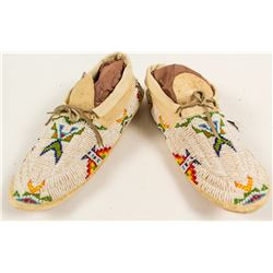 Great Pair of Beaded Moccasins