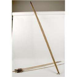 Vintage African Bamboo Arrows and Bow