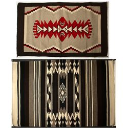 """Two """"Navajo"""" Style Rugs"""