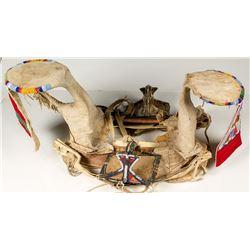 Black Foot Indian Squaw Beaded Saddle