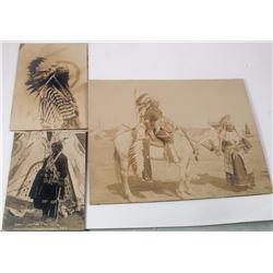 Buffalo Bill Wild West Show Native American Silver Prints