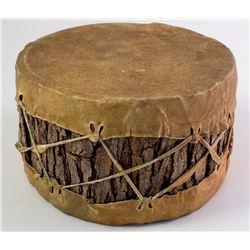 Handmade Bark and Hide Drum