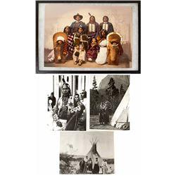 Ute Chief Sevara and Family, W. H. Jackson Photo