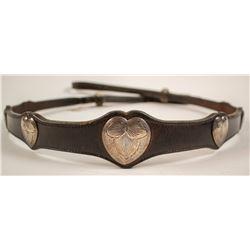Champion Breast Collar w/ Sterling Hearts