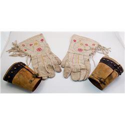 Set of Gauntlets and Cowboy Cuffs