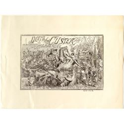 Death of Custer Lithograph