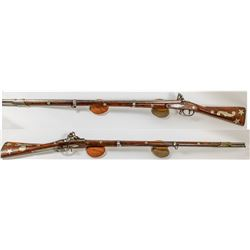 Rare Silver Inlaid 13 Silver Stars on a Whitney 1808 Contract Musket