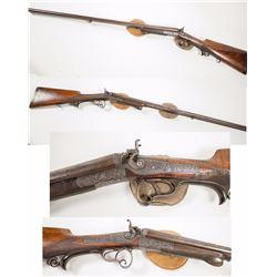 G.L. Rasch Braunschweig 16 GA Highly Ornate Hammer Breach Loading Shotgun