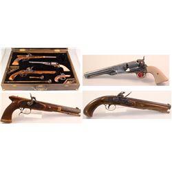 Historic Set of Cased Black Powder Replica Pistols