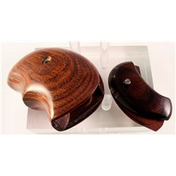 2 Pairs of North American Arms Rosewood Revolver Grips