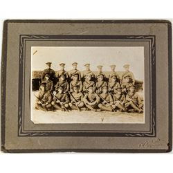 Royal Canadian Police Photo w/ 1876  Winchester Saddle Ring Carbines
