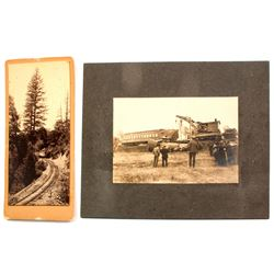 Two Nice Turn-of-the-Century Nevada City Railroad Photographs