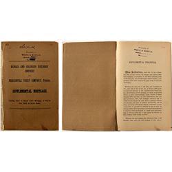 Kansas and Colorado Railroad Company Supplemental Mortgage