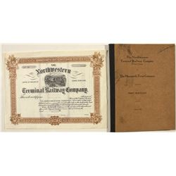 Stock Certificate and First Mortgage of the Northwestern Terminal Railway Company