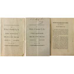 Wichita & Colorado Railway Co. First Mortgage