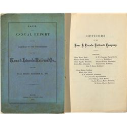 The Annual Report of the Knox & Lincoln Railroad Co.