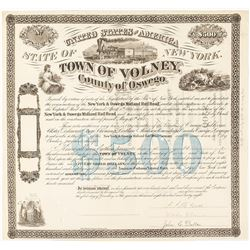 Bond: Town of Volney, NY--in aid of New York & Oswego Midland Rail Road (New York)