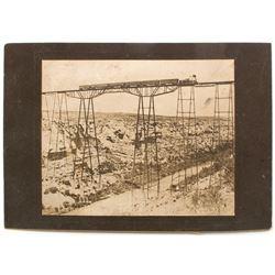 Mounted Photograph of Pecos Railroad Bridge