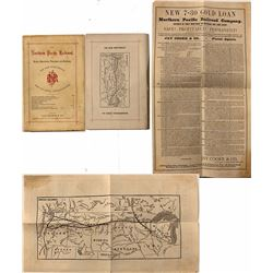Northern Pacific Railroad Booklet (w/ map) & Report