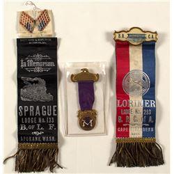 Three Railroad Badges