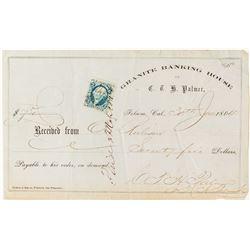 Granite Banking House of C. T. H. Palmer Receipt
