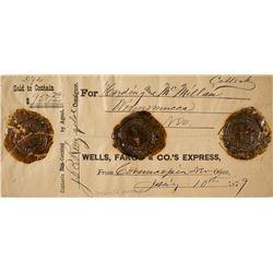 Wells Fargo Money Package with 3 Wax Seals