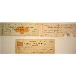Three Historic Wells Fargo Checks