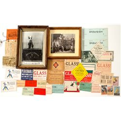 Framed Wells Fargo Photograph of Early Gas Powered Work Truck Plus Other Express Items