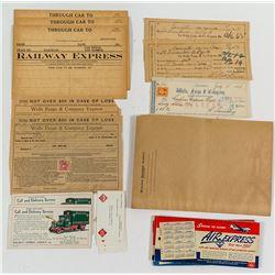 Wells Fargo and Railway Express Agency Ephemera Collection