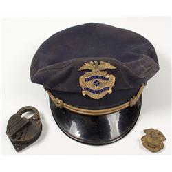 Wells Fargo Cap, Badges, and Lock