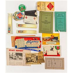 Large Collection of Railway Express Agency Collectables